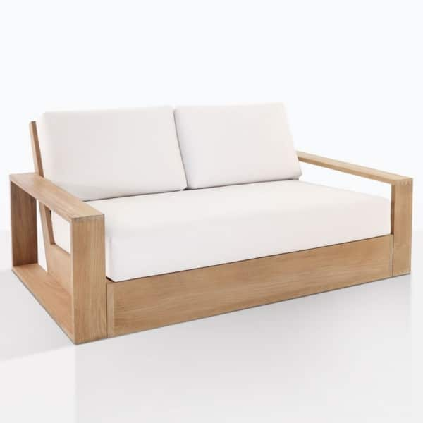 Kuba Teak Outdoor Loveseat