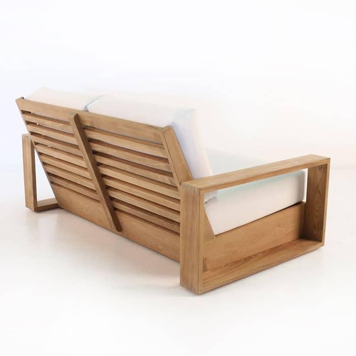 kuba teak outdoor loveseat patio furniture deep seating. Black Bedroom Furniture Sets. Home Design Ideas