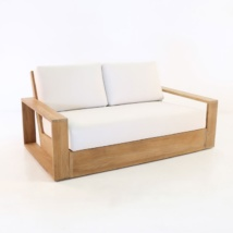 Kuba Teak Outdoor Loveseat-0