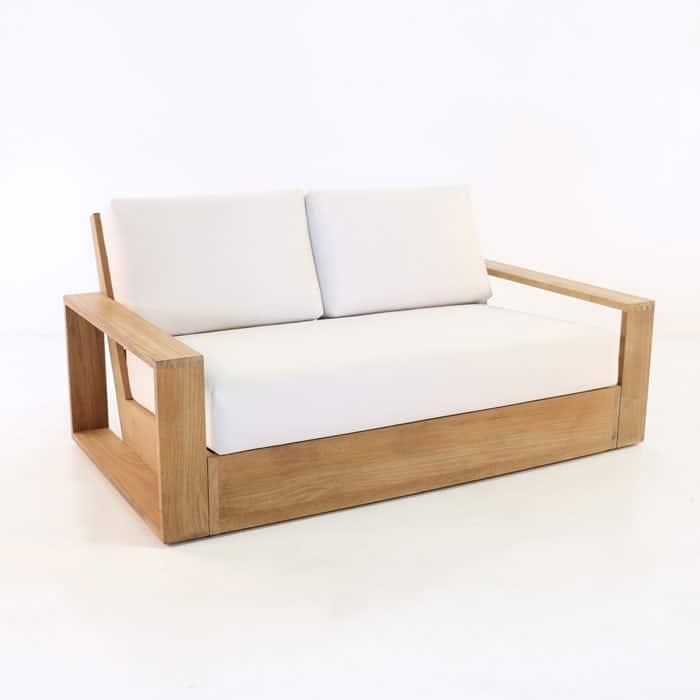 Kuba Teak Outdoor Loveseat Patio Furniture Deep Seating Teak Warehouse