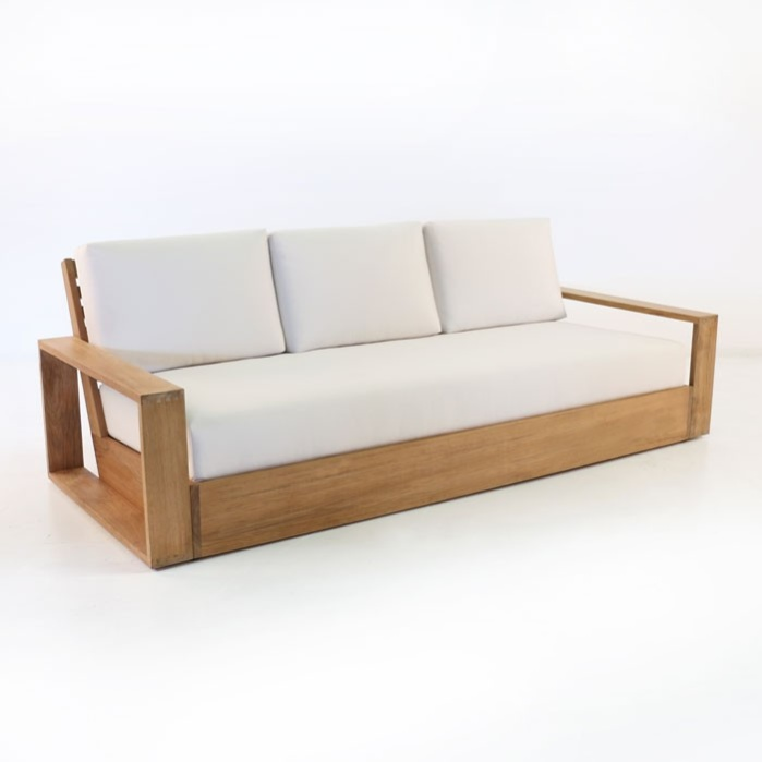 Outdoor teak sofa teak outdoor sofas chairs sectionals for for Sofa warehouse