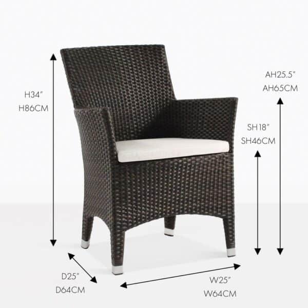 luigi wicker outdoor dining chair