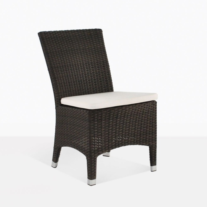 Luigi Outdoor Wicker Brown Dining Chair