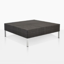 Madison Wicker Coffee Table With Aluminum Frame