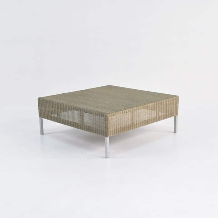 Madison Outdoor Wicker Coffee Table (Stonewash)
