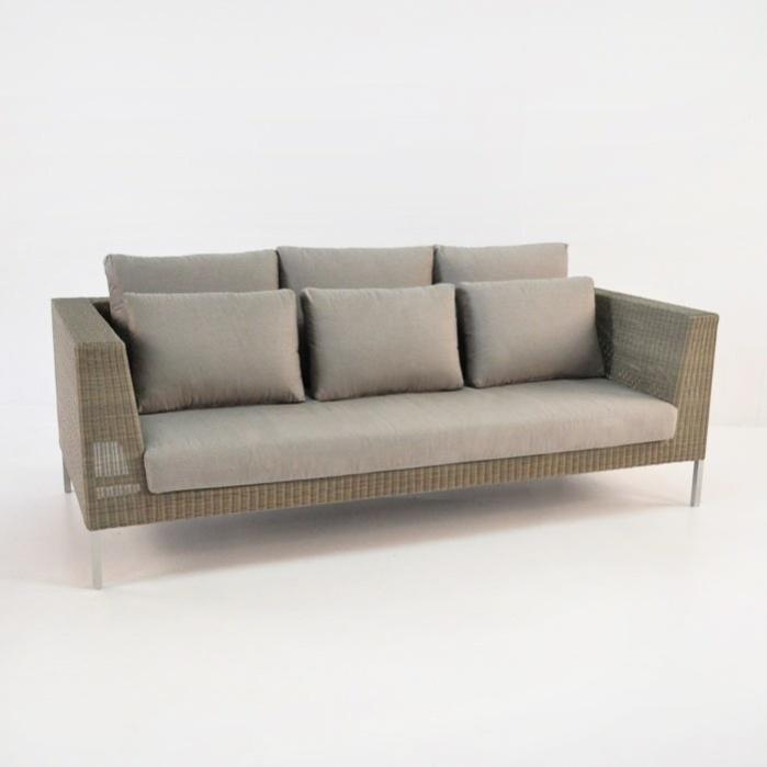 Madison Outdoor Wicker Sofa (Stonewash)-0