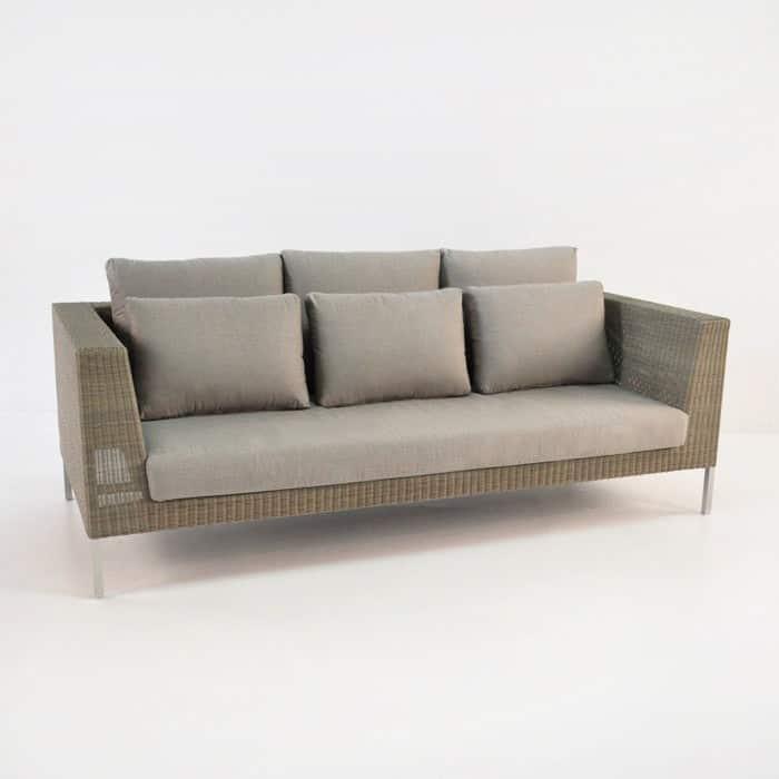 madison outdoor wicker sofa stonewash patio furniture