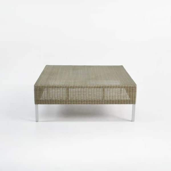 madison wicker coffee table front view