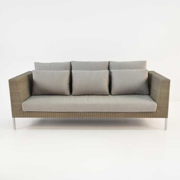madison wicker sofa front view
