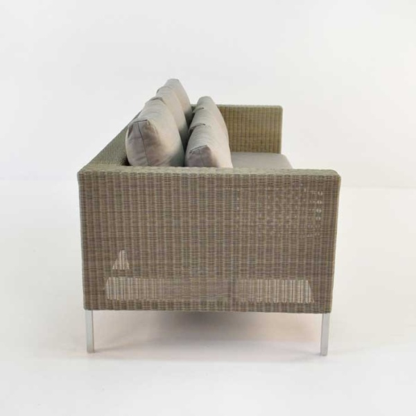 madison wicker sofa side view