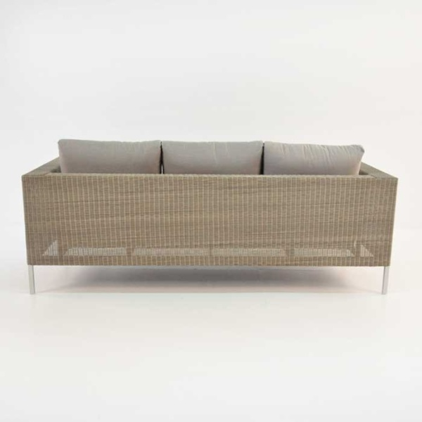 madison wicker sofa back view