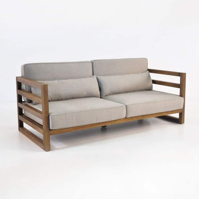 Manhattan reclaimed teak outdoor sofa patio couch teak for Simple outdoor sofa covers ideas
