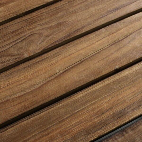 manhattan reclaimed teak side table closeup view