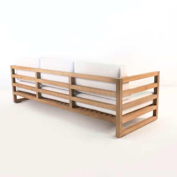 manhattan a-grade teak outdoor sofa back view