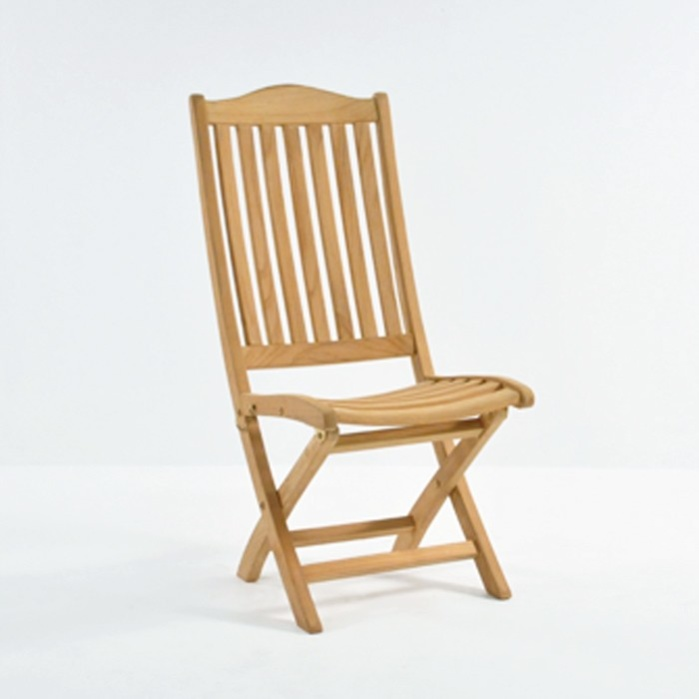 Marina Teak Folding Dining Side Chair-0