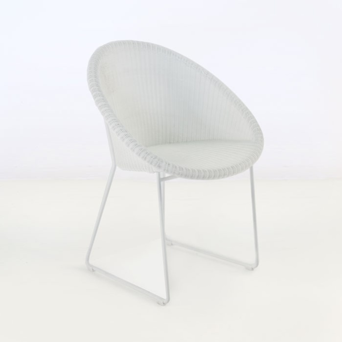 Metro Outdoor Wicker Dining Chair (White)-0