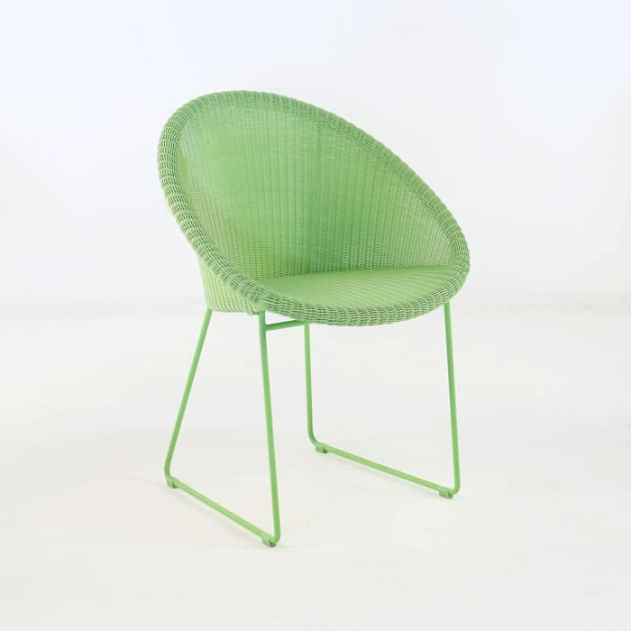 Metro Outdoor Wicker Dining Chair Green Patio Seating