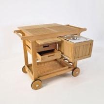 Monaco Teak Bar Cart-0