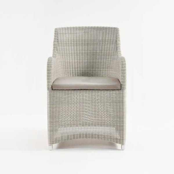 Moni Outdoor Dining Chair In Whitewash front