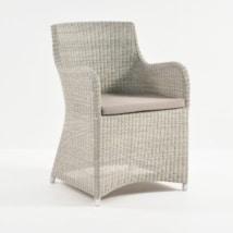 Moni Wicker Dining Chair (Whitewash)-0