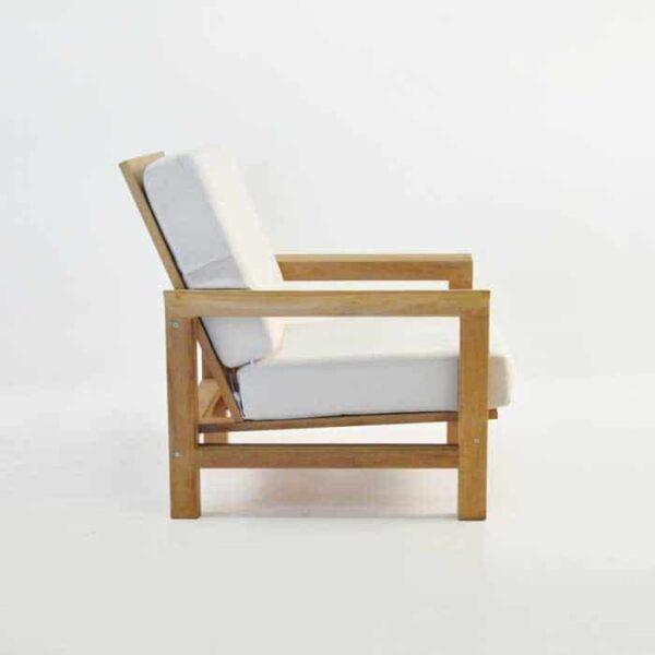 monterey teak outdoor club chair side view