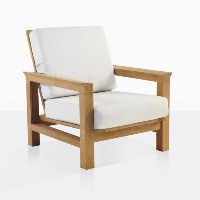 Monterey Teak Club Chair With Cushions - Monterey Teak Outdoor Club Chair Patio Furniture Teak Warehouse