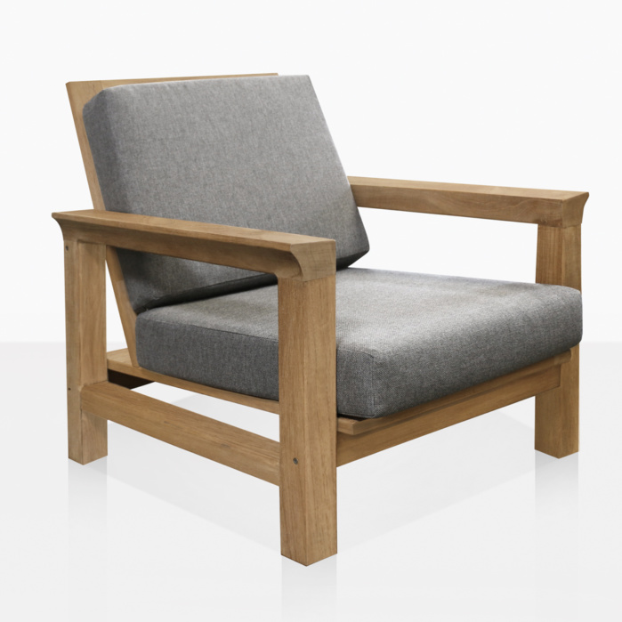 Monterey Teak Outdoor Lounge Chair with Cushions