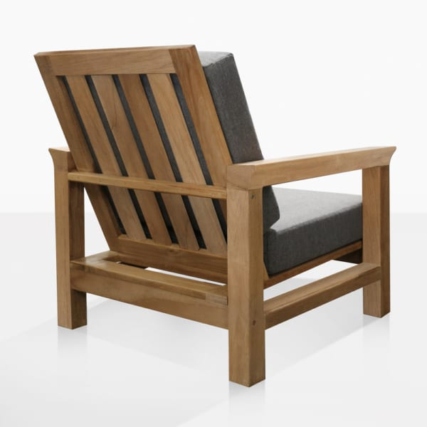 Monterey Teak Outdoor Lounge Chair with Cushions Back