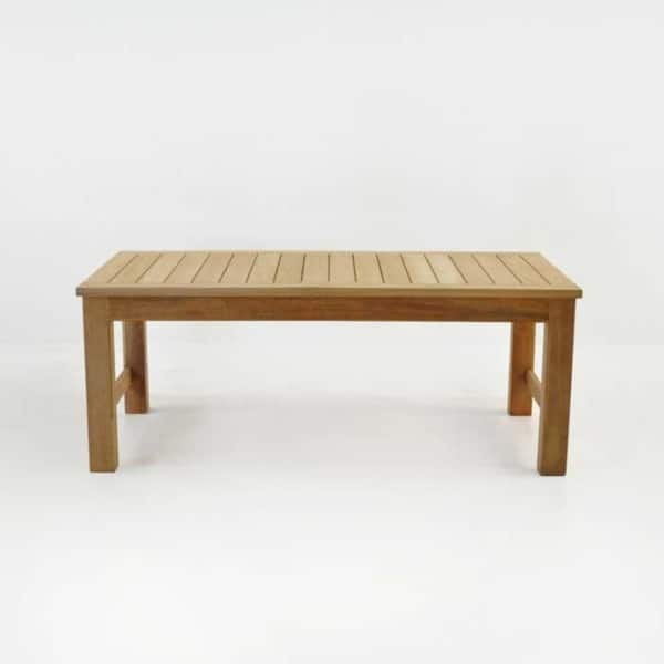 monterey teak coffee table side view