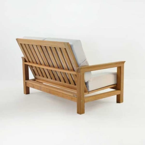 monterey teak outdoor loveseat back angle view
