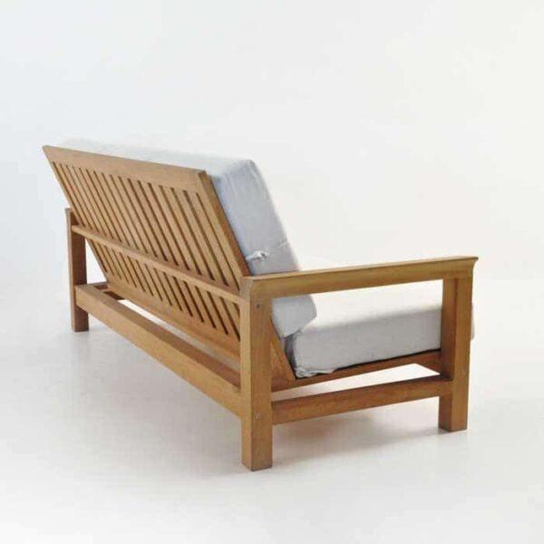 monterey teak outdoor sofa back angle view
