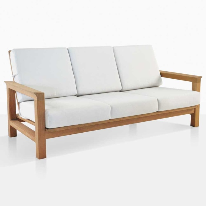 Monterey Teak And Sunbrella Sofa