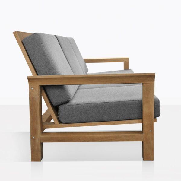 Monterey Teak 3 Seat Outdoor Sofa Side