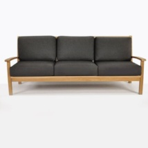Naples Teak Sofa And Two Club Chairs