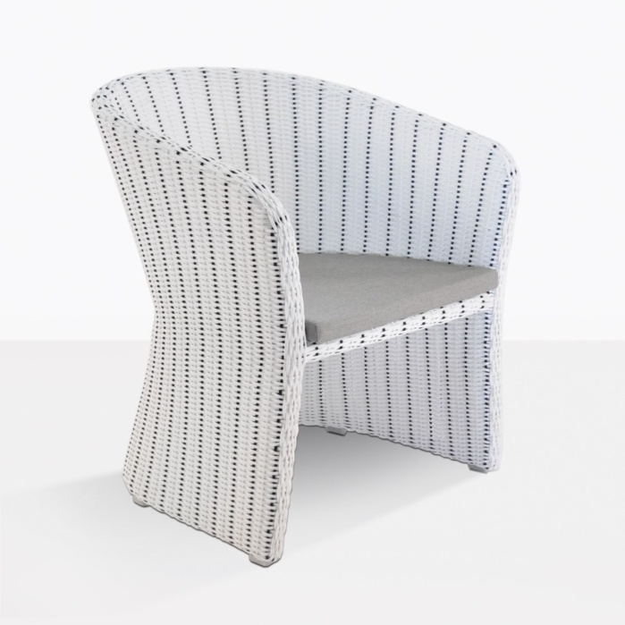 Nautical White Wicker Dining Chair