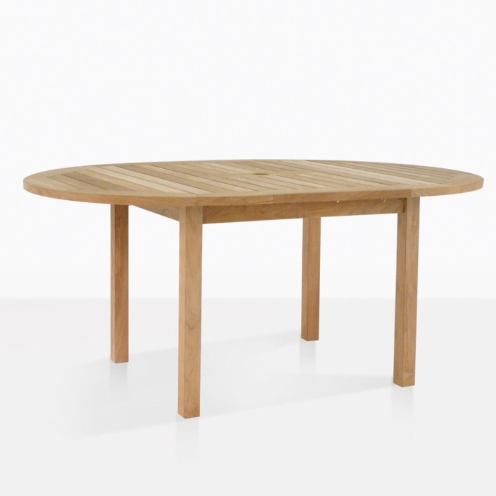 Nova Round Teak Dining Table Extended