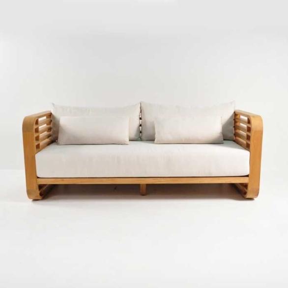 ocean outdoor teak sofa front view