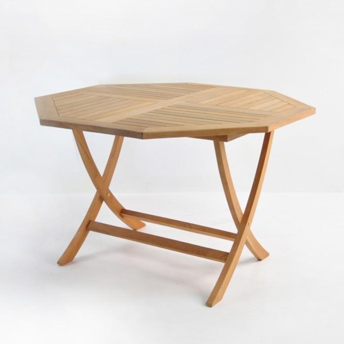 Octagonal Folding Teak Dining Table-0