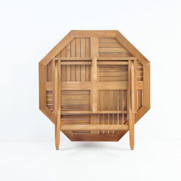 octagonal folding teak table