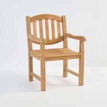Ovalback Teak Dining Arm Chair-0