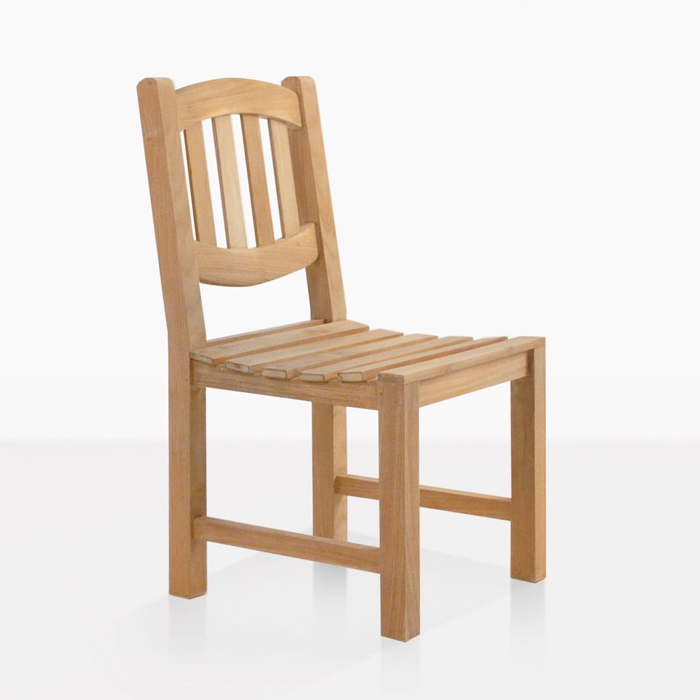 Ovalback Teak Dining Side Chair Patio Restaurant Seating