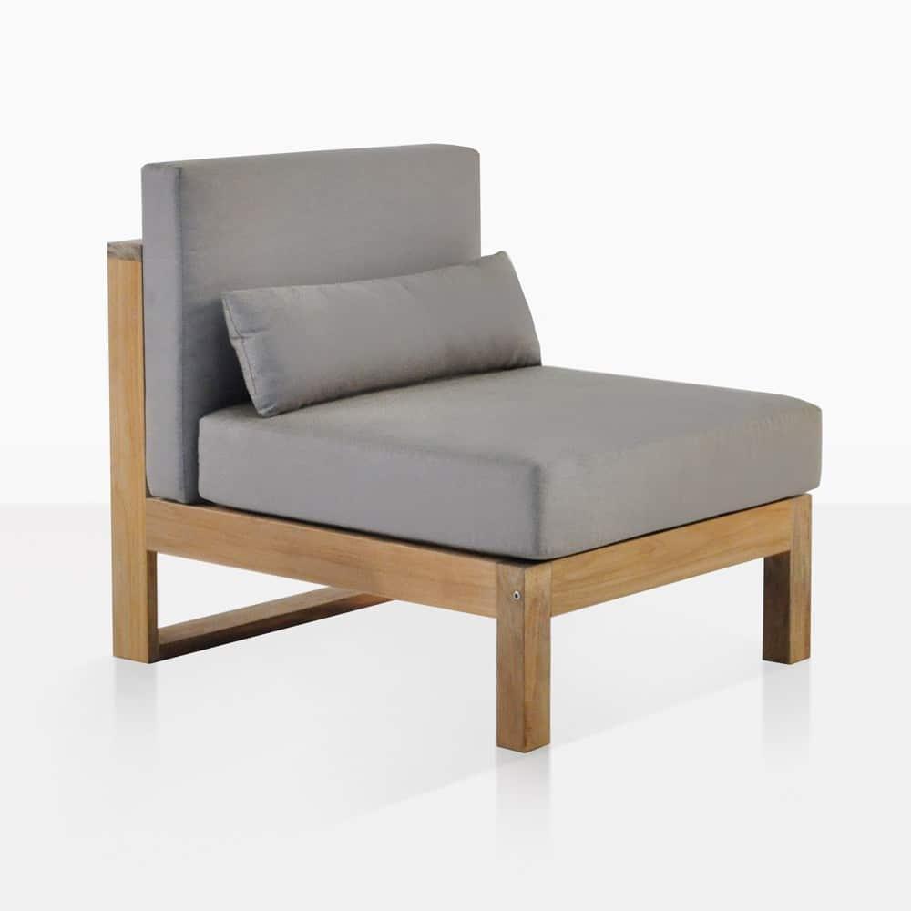 Teak Outdoor Sectional Armless Chair
