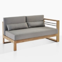 Pacific Teak Sectional Left Arm
