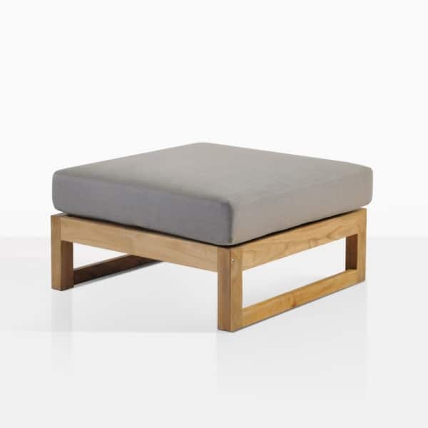 Pacific Teak Ottoman With Cushion
