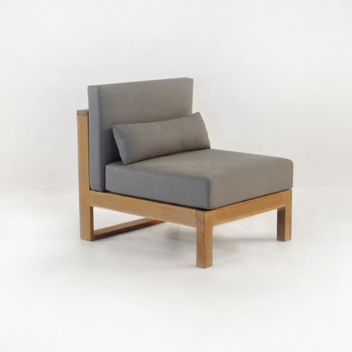 pacific teak outdoor sectional armless chair center0