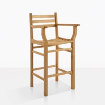 Pager Teal Bar Stool With Back