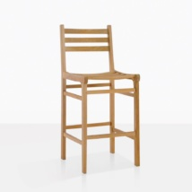 Pager Teak Armless Bar Chair
