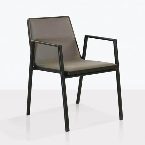 panama arm chair dining outdoor angle