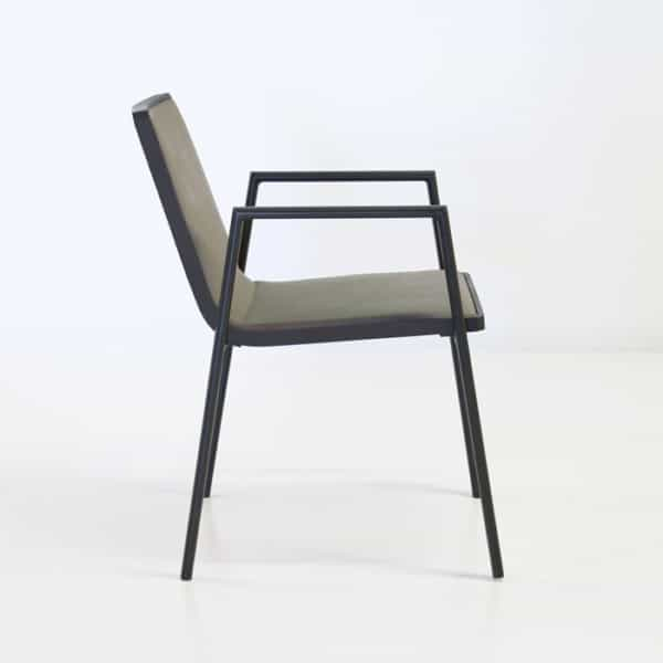 side chair view slim lines lightweight