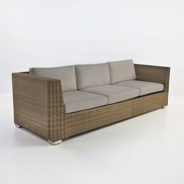 Paulo Outdoor Wicker Sofa (Sand)-0